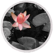 Floating Pink Round Beach Towel