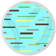 Floating Planks Round Beach Towel