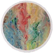Floating Thoughts Round Beach Towel
