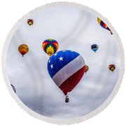 Floating Upward Round Beach Towel