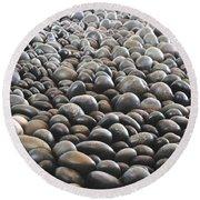 Floor Of Rocks Round Beach Towel