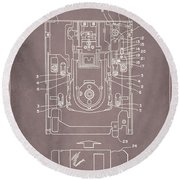 Floppy Disk Assembly Patent Drawing 1a Round Beach Towel