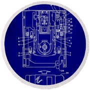 Floppy Disk Assembly Patent Drawing 1e Round Beach Towel