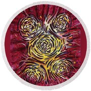 Flora Round Beach Towel