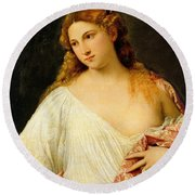 Flora Round Beach Towel by Titian