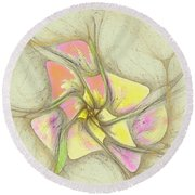 Floral 2-19-10-a Round Beach Towel
