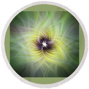 Floral Abstract Square Round Beach Towel