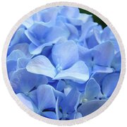 Floral Artwork Blue Hydrangea Flowers Baslee Troutman Round Beach Towel