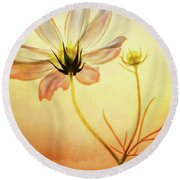 Floral At Dusk Round Beach Towel