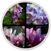 Floral Beauties Round Beach Towel