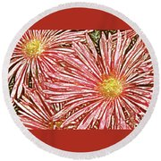 Floral Design No 1 Round Beach Towel