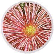 Floral Design No 1 Round Beach Towel by Ben and Raisa Gertsberg