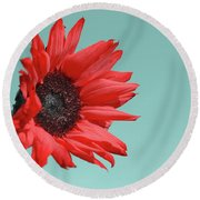 Floral Energy Round Beach Towel by Aimelle