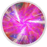 Floral Explosion Round Beach Towel