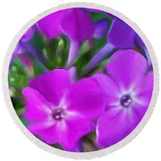 Floral Expression 2 021911 Round Beach Towel by David Lane