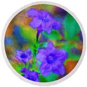 Floral Expression Round Beach Towel