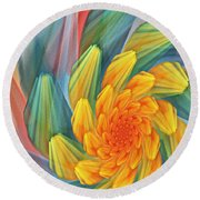 Floral Expressions 1 Round Beach Towel