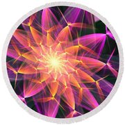 Floral Expressions 3 Round Beach Towel