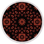 Floral Fire Tapestry Round Beach Towel