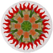 Floral Flare Round Beach Towel