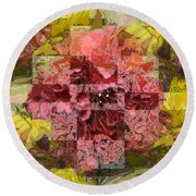 Floral Flux Round Beach Towel