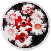 Floral Hotty Totty Round Beach Towel