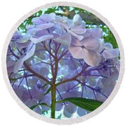 Floral Landscape Blue Hydrangea Flowers Baslee Troutman Round Beach Towel