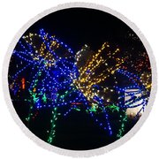 Floral Lights Round Beach Towel
