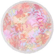 Floral Menagerie Round Beach Towel