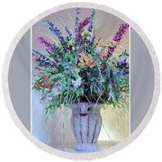 Floral  Piece Round Beach Towel