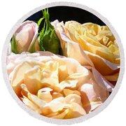 Floral Roses Garden Art Prints Baslee Troutman Round Beach Towel