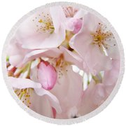 Floral Soft Pink Blossoms Spring Art Baslee Troutman Round Beach Towel
