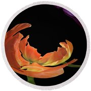 Floral Spring Tulips 2017 Abstract 01 Round Beach Towel