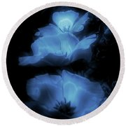 Floral Spring Tulips 2017 Blue Vertical Round Beach Towel