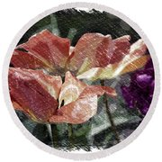 Floral Spring Tulips 2017 Pa 02 Round Beach Towel