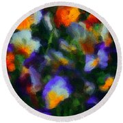 Floral Study 053010a Round Beach Towel