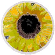 Floral Sunbeam Round Beach Towel