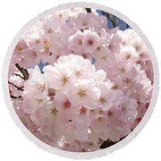 Floral Tree Blossoms Flowers Pink Art Baslee Troutman Round Beach Towel