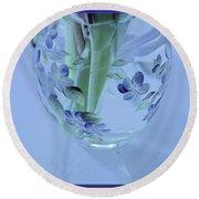 Floral Vase Round Beach Towel