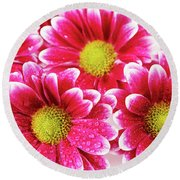 Floral Wallpaper Round Beach Towel