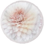 Floral Watercolor Background Round Beach Towel
