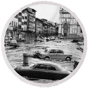 Florence: Flood, 1966 Round Beach Towel