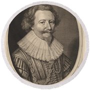 Florent II, Count Of Pallandt Round Beach Towel