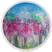 Florescence Round Beach Towel
