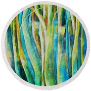 Floresta Verde  Round Beach Towel