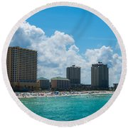 Florida Beach Panama City Round Beach Towel
