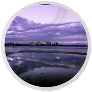Florida Clouds Round Beach Towel