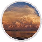 Florida Cloudscape Round Beach Towel