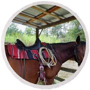 Florida Cracker Horse Round Beach Towel