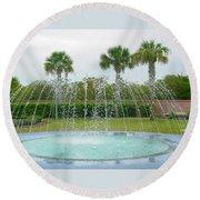 Florida Fountain Round Beach Towel